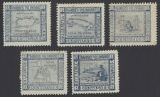 Spain 1898 Spanish-American Patriotic Labels set of 5 MH