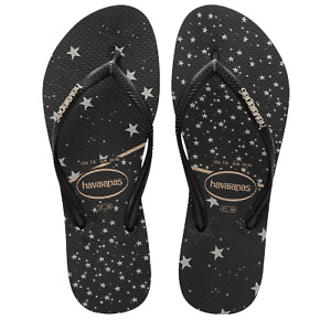 Slim Metallic Havaianas Thongs, Flip Flops. Size 9 - 10. (39-40) RRP $49.99. NWT