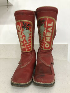 vintage 80s O'Neal trail pro Dirt Bike Motocross Boots Size 12