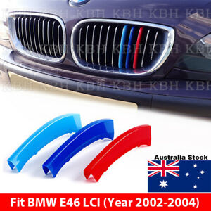 M Color Kidney Grille Grill Cover Stripe Clip BMW 3 Series E46 Facelift 02-04
