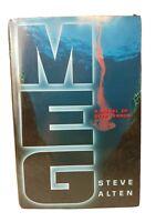 MEG: A Novel of Deep Terror by Steven Alten 1997, Hardcover w/ Dustjacket