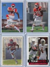 2008 Upper Deck and Sage Jamaal Charles 4 Card RC Rookie Lot in MINT!
