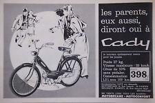 PUBLICITÉ DE PRESSE 1966 CADY MOTOBÉCANE - ADVERTISING