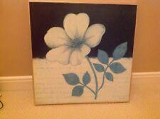 Foto De Flor Cuadrado 50X50CM-Negro/Crema/Gris-Moderno Flor de imagen