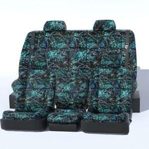 Custom Seat Covers 2012 Kia Soul Moonshine Camo Serentity 13 PC Seat Cover Set
