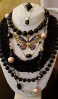 Vintage Estate NWT Betsey Johnson Sarah Cov W Germany Costume Necklace 8 pc lot