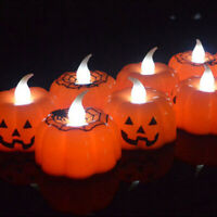 Halloween Candle LED Lights Pumpkin Night Lighting Decor Home Party Props Lamp