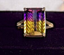 7.20CT REAL purple gold AMETRINE Sterling Silver COCKTAIL Ring Size 5 TO10