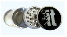 F--k-it Kitchen Herb Spice Grinder 56mm 4 piece Metal Tobacco Funny Gag Joke