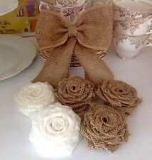 Hessian Handmade Bow & Roses Cake Kit Wedding Shabby Chic Rustic