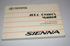 2004 TOYOTA SIENNA OWNERS MANUAL GUIDE BOOK OEM