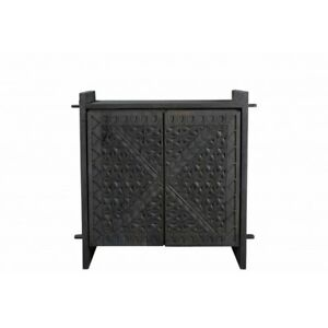 """36"""" L Sideboard Hand Crafted Recycled Solid Wood Hand Carved Traditional"""