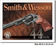Smith & Wesson 44 Magnum Tin Sign 1463 Comb. Post-Many Other Gun Signs In Store
