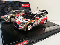 "Slot car SCX Scalextric Carrera 27460 Evolution Citroën DS3 WRC ""Abu Dhabi"" Nº1"