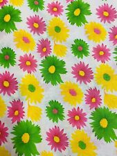 Pink Sunflower Fabric Material by the METRE