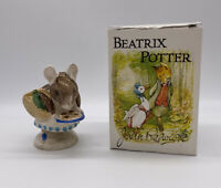 Beatrix Potter Beswick Appley Dapply Figurine With Box Vintage Made In England