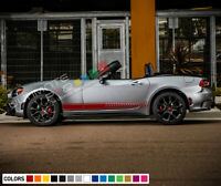 Stripes For Fiat 124 Spider Racing 2015 2016 2020 2021Sticker Decal racing Side
