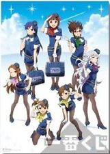 Idolmaster Stewardess Group Ichiban Kuji 2 E Prize Poster Anime MINT