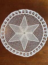 True Vintage Hand Crocheted Doily 41cm Centrepiece Crochet Dining Wedding Table