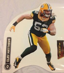 """20"""" x 14"""" and Name 9"""" CLAY MATTHEWS #52 FATHEAD Official Player Graphic PACKERS"""
