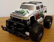 MONSTER Truck Hummer Radio telecomando auto veloce velocità SCALA 1:24 18cm Bianco