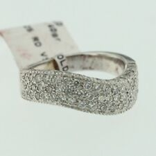 Women 14k White Gold Natural Round Cut Diamond Lady Wedding Band Engagement Ring