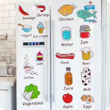 Kitchen Refrigerator Decorative Food Fruit Removable Cartoon Wall Stickers 1Pc