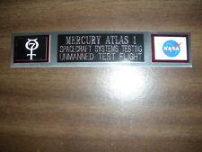 MERCURY ATLAS 1 (NASA) NAMEPLATE FOR PHOTO/DISPLAY