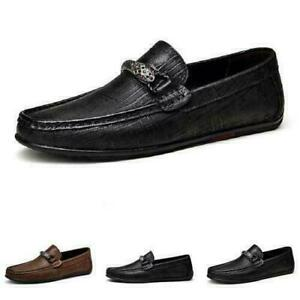 Mens Driving Moccasins Shoes Pumps Slip on Loafers Soft Comfy Business Flats F