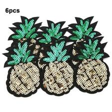 6Pcs Sequin Pineapple Embroidery Patches Sewing Decor Patch DIY Clothes Applique