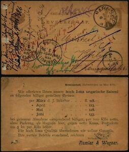 N198 Hungary postcard stationery Germany Berlin 1896