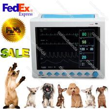 100% Warranty Vet Veterinary ICU Vital Signs 6 Parameters Patient Monitor FDA US