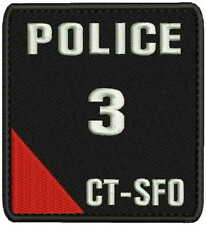 Police CTSFO embroidery patches 4x4.5 hook
