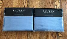 New Set of 2 Ralph Lauren Spencer Matelasse Euro Pillow Sham Blue