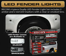 Recon Clear LED Dually Fender Lights 2010-2016 Dodge Ram 3500 264137CL