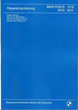 BMW Manuel D/'ATELIER//atelier repair manual r 90 75 60//6; r90 s r75 r60 New