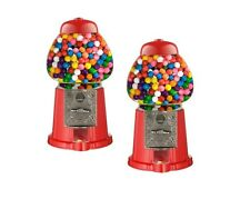 2 x MINI GUMBALL DISPENSER Macchina Giocattolo con BUBBLE GUM Party Bag MEDAGLIA opreated
