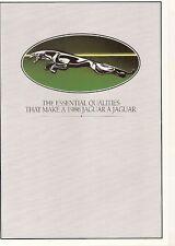 Jaguar 1985-86 Export Market Foldout Sales Brochure In English XJ Sovereign XJS