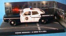 DODGE MONACO A VIEW TO KILL JAMES BOND 007 1/43 POLICE UNIVERSAL HOBBIES ATLAS
