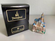 New ListingChristopher Radko Blue Cinderella Disneyland Castle, Disney Christmas Ornament