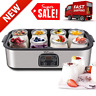 Automatic Yogurt Maker Digital Yogurt Machine W/ 8 Glass Jars 48 Oz Durable NEW