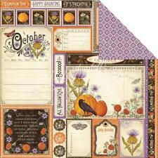 Gráfico 45 2 Hojas, tiempo para florecer Colección, Corte aparte, octubre