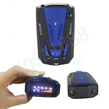 Radar Detector 16 Band Voice Alert 360 Degree V7 LED Display Blue Yosa