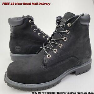 Timberland 6 Inch Alburn Waterproof Boot Black Nubuck Casual Shoe Walk RRP £170