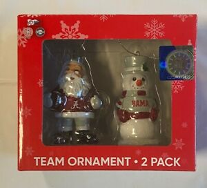 Alabama Crimson Tide Christmas Tree Holiday Ornament - St Nick & Snowman 2-Pack