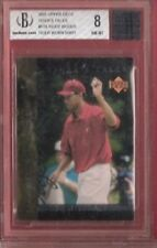 TIGER WOODS GRADED BGS NM-MINT 8 ROOKIE INSERT CARD & WORN SHIRT RELIC PIECE PGA