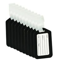 10pcs Luggage Tags Suitcase Label Bag Travel Accessories Black U9T8