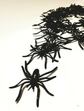 Decoraciones De Halloween 20 un. espeluznante Miedo Terror De Plástico Negro Arañas Insectos