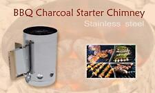 Charcoal BBQ Fire Starter Chimney  - Stainless Steel - GREAT QUALITY Product