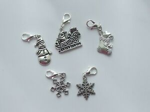 Set 5 Stitch Markers CHRISTMAS THEME  Knitting,Crochet,Charms,Accessories etc